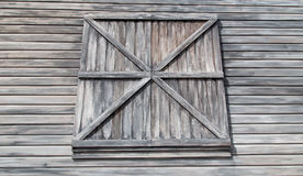 Weathered Barn Clapboard Siding and Window Royalty Free Stock Images
