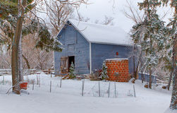 Weathered Barn Following the Snow Royalty Free Stock Image