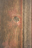Weathered Barn Wall Wood Grain Plank Red Knot Royalty Free Stock Photography