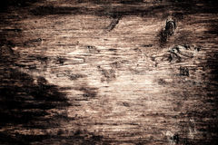 Weathered barn wood background with knots and nail holes / wood Stock Photography