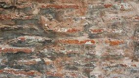 Weathered befleckte alte Steinbacksteinmauer Lizenzfreies Stockbild