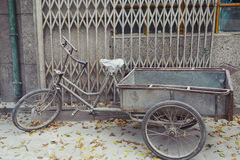 Weathered Bike Parked in Beijing Stock Images