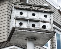 Weathered Bird House in Long Beach Island, New Jersey Royalty Free Stock Photo