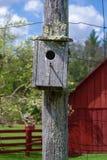 Weathered Birdhouse Stock Photo