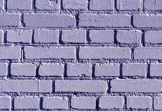 Weathered blue color brick wall pattern. Stock Images