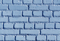 Weathered blue color brick wall pattern. Royalty Free Stock Photos