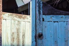 Weathered blue door Stock Photography