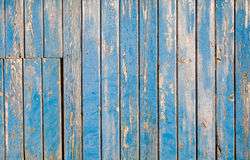 Weathered blue painted wooden background (texture) Stock Photos