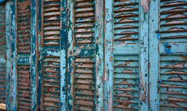 Weathered blue shutters Stock Photography