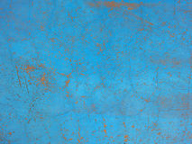 Weathered blue wall Royalty Free Stock Photo
