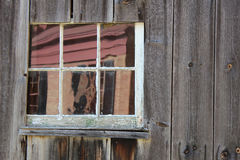 Weathered boards. Window and the weathered board siding of a building Royalty Free Stock Images