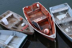 Weathered Boats Royalty Free Stock Photography