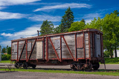 Weathered boxcar, onamia Stock Photography