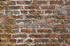 Weathered Brick Background. Details of old, weathered brickwork in a brick wall. Image would work as a background or wallpaper royalty free stock photography