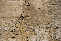 Weathered brick wall. In Venice, Italy Stock Photography