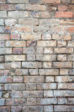 Weathered brick wall background, home related Royalty Free Stock Photos
