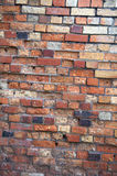 Weathered brick wall background, home related Stock Images