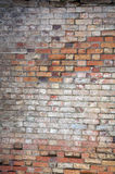 Weathered brick wall background, home related Stock Photos