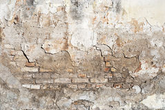 Weathered brick wall background Royalty Free Stock Images