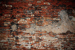 Weathered brick wall fragment Royalty Free Stock Image