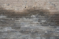 Weathered Brick Wall stock photo
