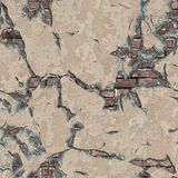 Weathered Brick Wall. Seamless Tileable Texture. Stock Image