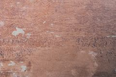 Weathered brown surface. Close-up view of old weathered brown surface Stock Images