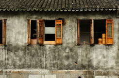 Weathered building in Fengjing Town Shanghai royalty free stock image