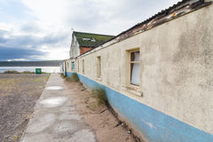 Weathered building by sea Stock Image