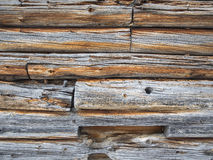 Weathered cabin wall Stock Photography
