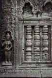 Weathered Cambodian wall Royalty Free Stock Photo