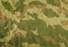 Weathered camouflage cloth texture. Royalty Free Stock Image