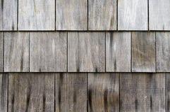 Weathered cedar shake roof shingles. Weathered roof shingles made of cedar shakes Royalty Free Stock Image