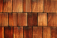 Weathered cedar shakes. A background of cedar shakes on a long island house stock photos