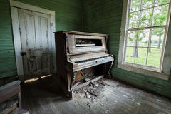 Weathered Church Piano Abandoned Royalty Free Stock Images