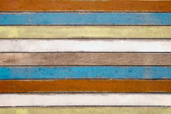 Weathered color bars stock photo