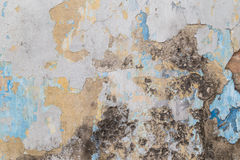 Weathered colorful concrete wall Stock Image