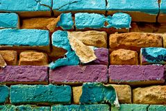 Weathered colorful wall Stock Photos