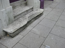 Weathered Concrete Steps Stock Photo