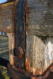 Weathered constructions from close Stock Photos
