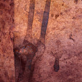Weathered copper background Royalty Free Stock Photography