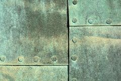 Weathered copper sheet Stock Photography