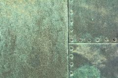 Weathered copper sheet Stock Images