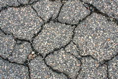 Weathered And Cracked Asphalt Royalty Free Stock Photo