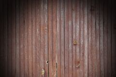 Weathered Cracked Brown Old Wood Plank Panel With Black Vignette Royalty Free Stock Photos