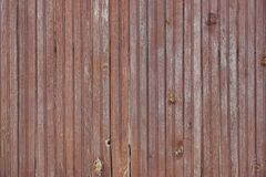 Weathered Cracked Brown Old Wood Plank Panel Texture Stock Photo