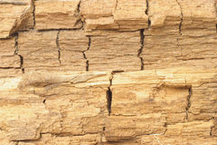 Weathered and cracked wood surface texture Royalty Free Stock Photography