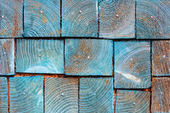 Weathered cross section blue grunge wood texture Stock Photos