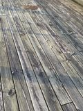 Weathered deck Stock Photo