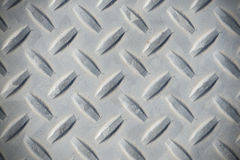 A weathered Diamond plate background Stock Photography